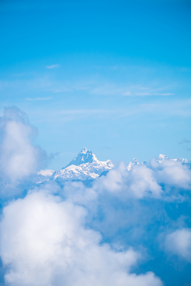 DOCHULA, BHUTAN - CIRCA October 2014: View of the Himalayas from the Dochula Pass in Bhutan (Daniel Korzeniewski)