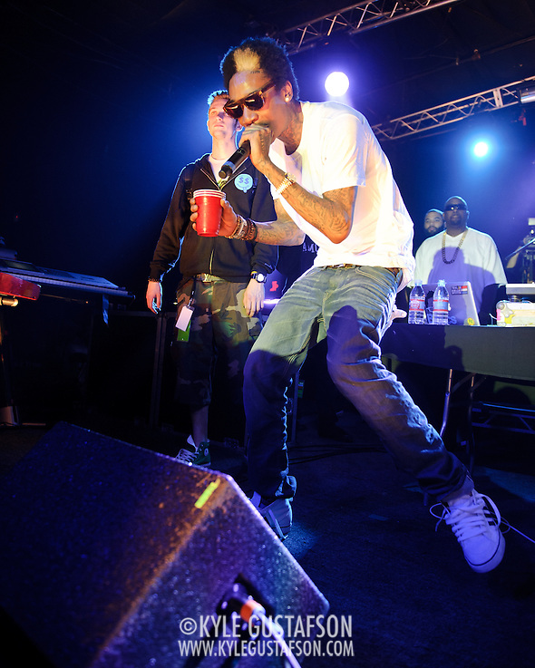 AUSTIN, TX - March 17th: Rapper Wiz Khalifa performs at the Atlantic Records showcase at La Zona Rosa as part of the 2011 South by Southwest Festival. (Photo by Kyle Gustafson) (Photo by Kyle Gustafson / For The Washington Post)