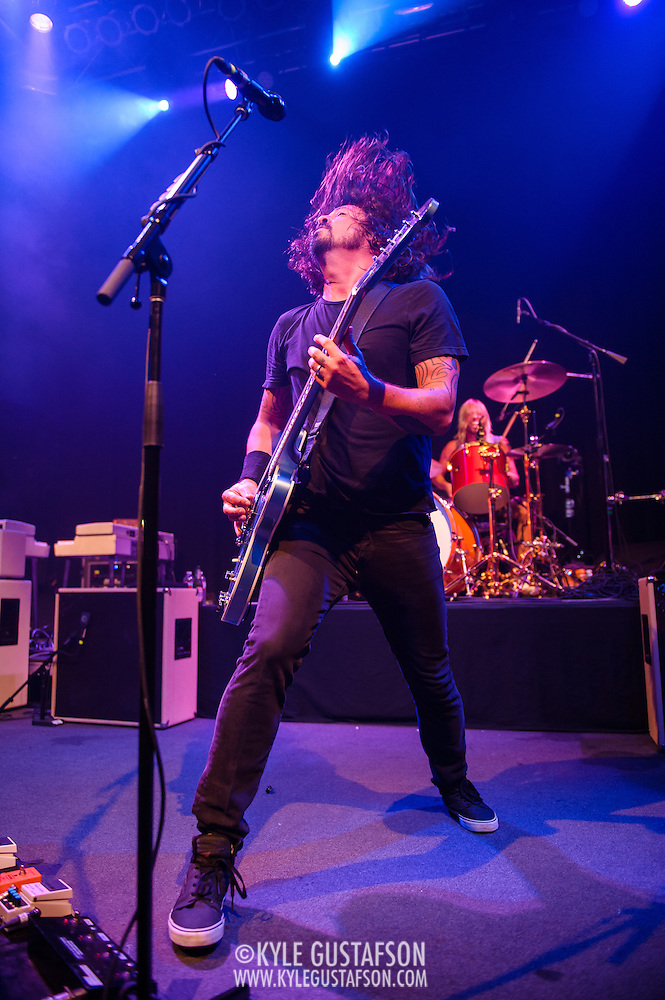 "WASHINGTON, DC - May 5th, 2014 -  The Foo Fighters perform at the 9:30 Club in Washington D.C. as part of the birthday celebration for Big Tony of Trouble Funk. The band performed as surprise guests and played a set full of hits such as ""My Hero"" and ""These Days."" (Photo by Kyle Gustafson / For The Washington Post) (Kyle Gustafson/Photo by Kyle Gustafson)"