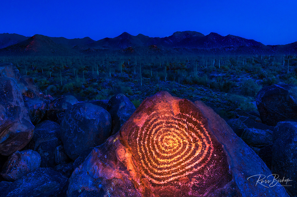 Petroglyphs on Signal Hill, Saguaro National Park, Tucson, Arizona