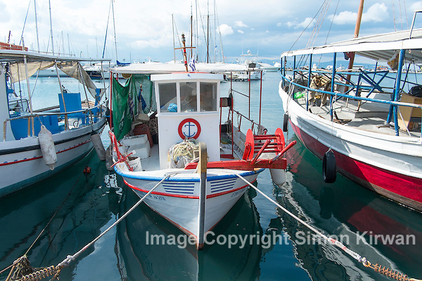 Fishing Boats, Aegina, Greece - Travel Photography By Simon Kirwan
