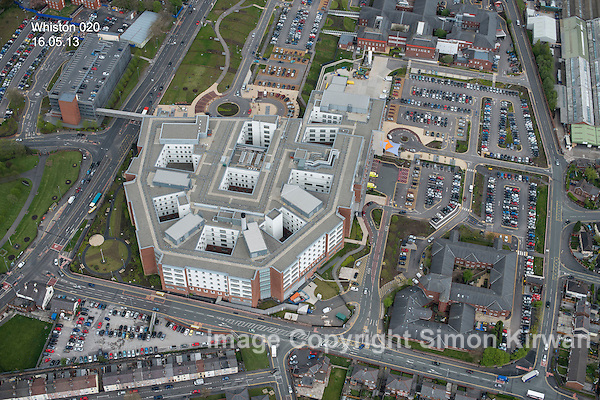 Whiston Hospital Aerial Photography By Simon Kirwan www.aerial-photographer.co.uk
