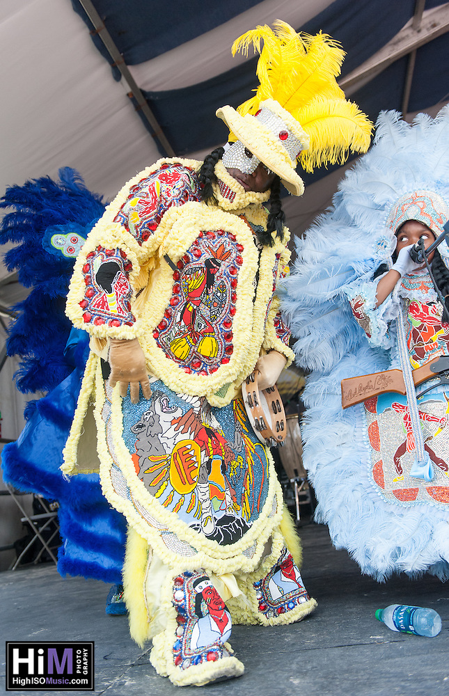 The Creole Wild West Mardi Gras Indians   perform at the 2013 New Orleans Jazz and Heritage Festival on April 27, 2013 in New Orleans, LA.  © HIGH ISO Music, LLC / Retna, Ltd. (HIGH ISO Music, LLC)