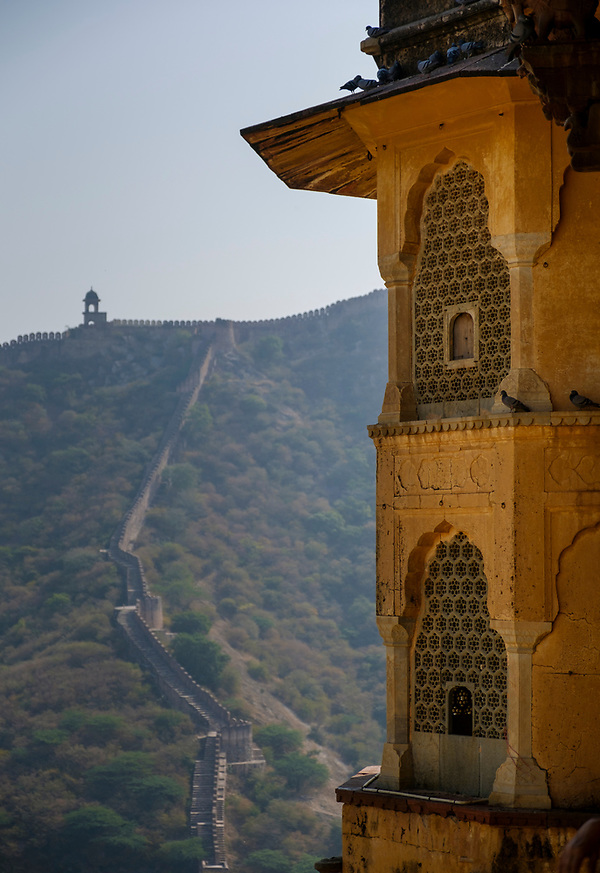 JAIPUR, INDIA - CIRCA NOVEMBER 2016: Detail of the Amber Fort in Jaipur (Daniel Korzeniewski)