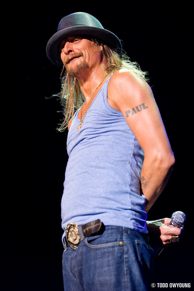 Kid Rock performing at Verizon Wireless Amphitheater in St. Louis, Missouri on July 16, 2011. © Todd Owyoung. (Todd Owyoung)