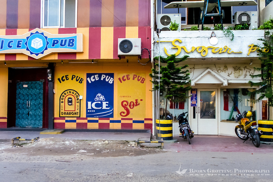Indonesia, Riau, Batam. Two of the many pubs in Nagoya, Ice Pub and Sugar Pub. (Photo Bjorn Grotting)