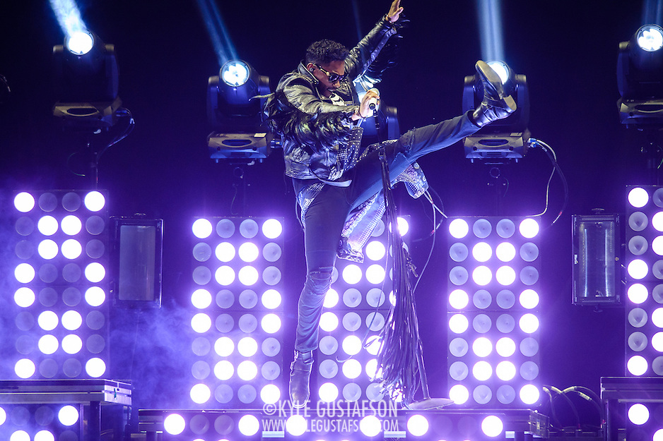 "WASHINGTON, DC - October 31st, 2013 -  Miguel performs as the opening act on Drake's ""Would You Like A Tour?"" tour at the Verizon center in Washington, D.C.  (Photo by Kyle Gustafson / For The Washington Post) (Kyle Gustafson/For The Washington Post)"