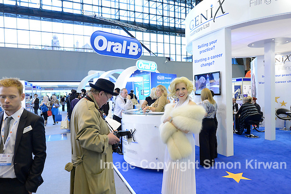 Marilyn Monroe at Genix Healthcare, British Dental Conference & Exhibition 2012, MCCC. Photo by Simon Kirwan