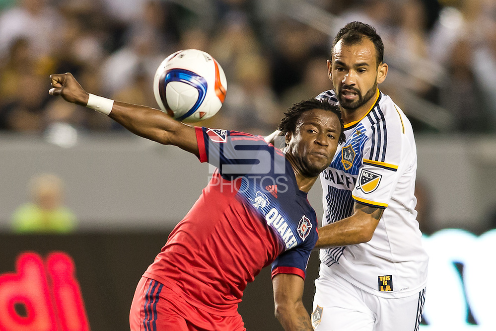 Carson, Calif. - Friday, March 6, 2015: The LA Galaxy defeated the Chicago Fire 2-0 in a Major League Soccer (MLS) game at StubHub Center. (Michael Janosz/isiphotos.com)