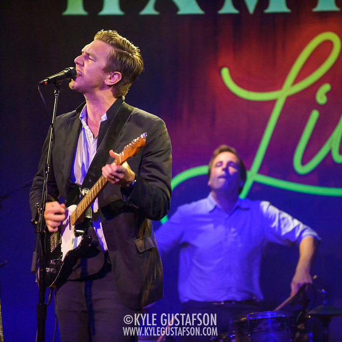 "WASHINGTON, DC - July 13th, 2014 - Hamilton Leithauser  and drummer Hugh McIntosh perform at The Hamilton in Washington, D.C. Leithauser, a D.C. native, released his first solo album this year while his former band, The Walkmen, are on a self-proclaimed ""extreme hiatus."" (Photo by Kyle Gustafson / For The Washington Post) (Kyle Gustafson/For The Washington Post)"