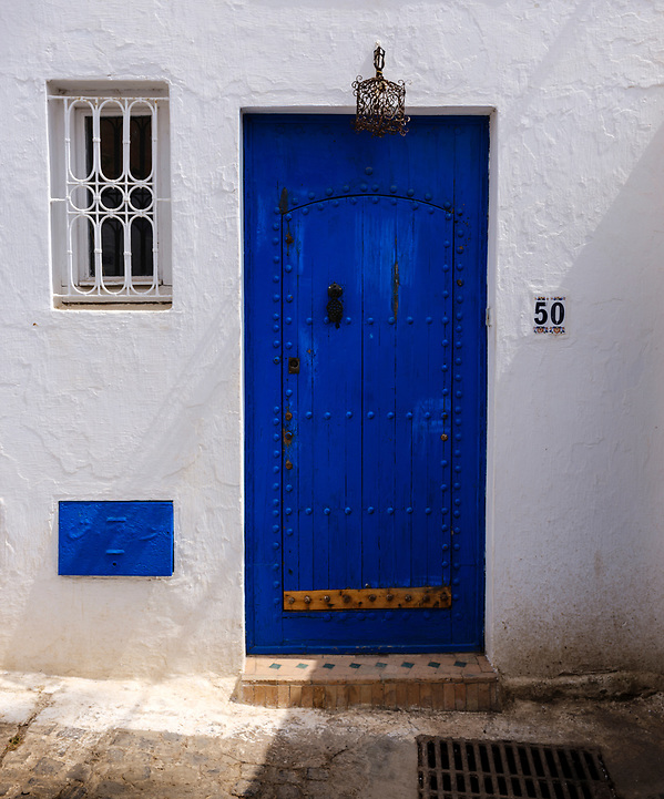 RABAT, MOROCCO - CIRCA APRIL 2017: Door in the Kasbah Oudayas in Rabat (Daniel Korzeniewski)