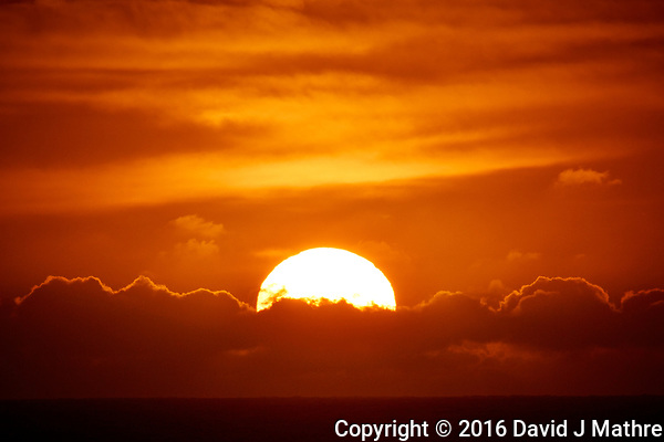 Sunrise Breakfast Club. Sun Rising Over the Clouds. Image taken with a Nikon 1 V3 camera and 70-300 mm VR lens (David J Mathre)