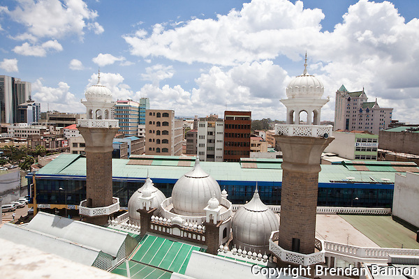 Jamia Mosque in downtown Nairobi, Kenya. (Photographer: Brendan Bannon)