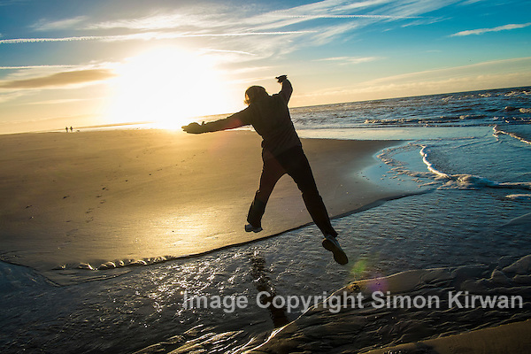 Leaping the Tide, Ainsdale Beach - Photo By Simon Kirwan