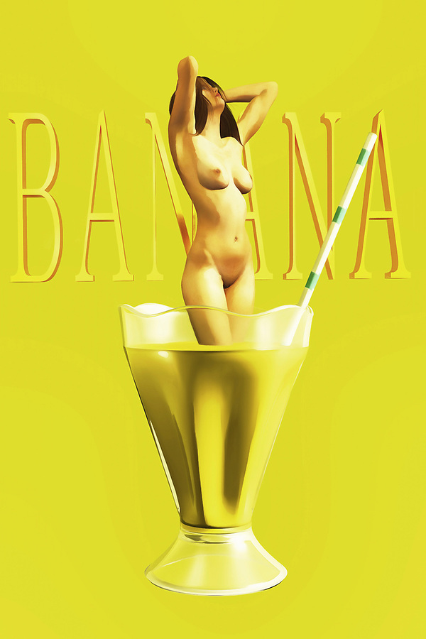 Do you like banana milkshakes? They can be a perfect treat for someone who loves milkshakes, but would perhaps prefer to enjoy something a little different from chocolate, vanilla, or strawberry. If you consider yourself to be a person like that, then you are going to love this compelling piece of fine art. The piece combines the nude female form, captured in a state of perfect enjoyment, with a glass of banana milkshake. One of the best things about this particular piece is the fact that it is open to a wide range of interpretations. What do you think it's about? (Jan Keteleer)