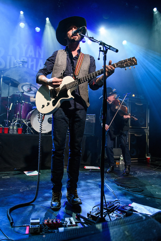"""Photos of Ryan Bingham performing live on the """"Fear and Saturday Night"""" Tour 2016 at Irving Plaza, NYC on February 5, 2016. © Matthew Eisman/ Getty Images. All Rights Reserved (Photo by Matthew Eisman/ Getty Images)"""