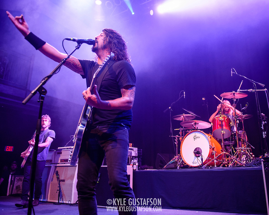 "WASHINGTON, DC - May 5th, 2014 - The Foo Fighters perform at the 9:30 Club in Washington D.C. as part of the birthday celebration for Big Tony of Trouble Funk.  The band performed as surprise guests and played a set full of hits such as ""My Hero"" and ""These Days."" (Photo by Kyle Gustafson / For The Washington Post) (Kyle Gustafson/For The Washington Post)"