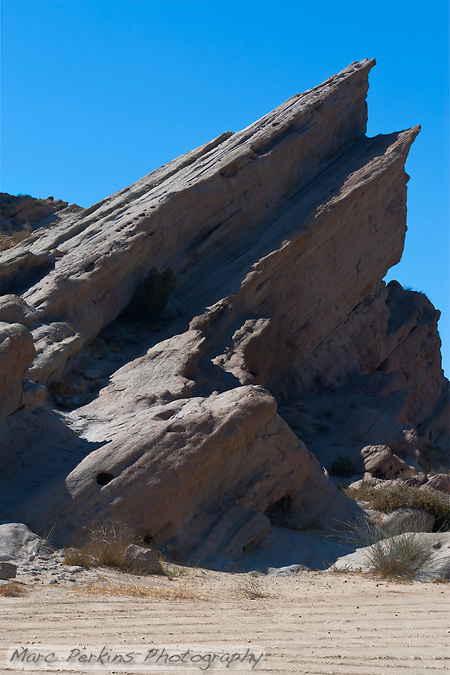 "Vasquez Rocks, in Los Angeles County, were featured prominently in the Star Trek episode ""Arena"".  This is the rock formation on the left-hand side of the classic shot of Kirk facing off with the alien Gorn. (Marc C. Perkins)"
