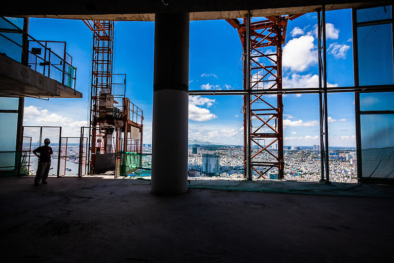 A new view of Saigon from a a new, currently unfinished tower called SaigonOne. (Quinn Ryan Mattingly)