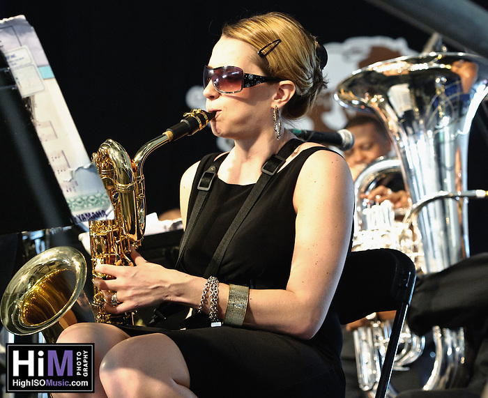 The Mingus Big Band plays at Jazz Fest 2011 in New Orleans, LA on day 5. (Golden G. Richard III)