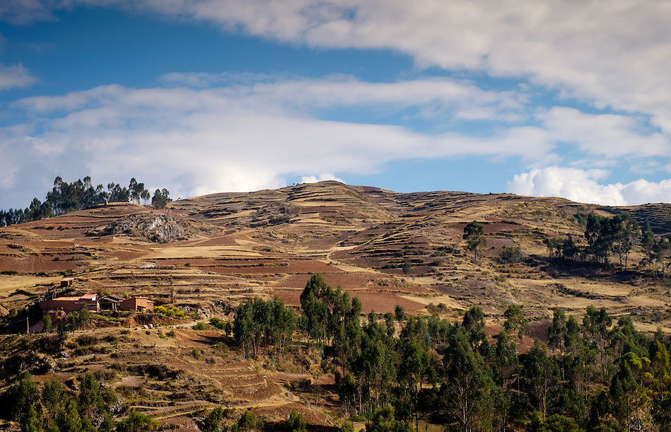 CHINCHERO, PERU - CIRCA OCTOBER 2015: Mountains close to Chinchero on the Cusco region known as Sacred Valley (Daniel Korzeniewski)
