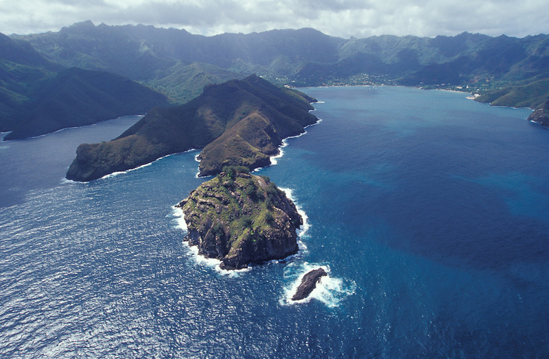 Aerial view from Nuku Hiva, Marquesa Islands, French Polynesia,South Pacific (Michael Runkel)