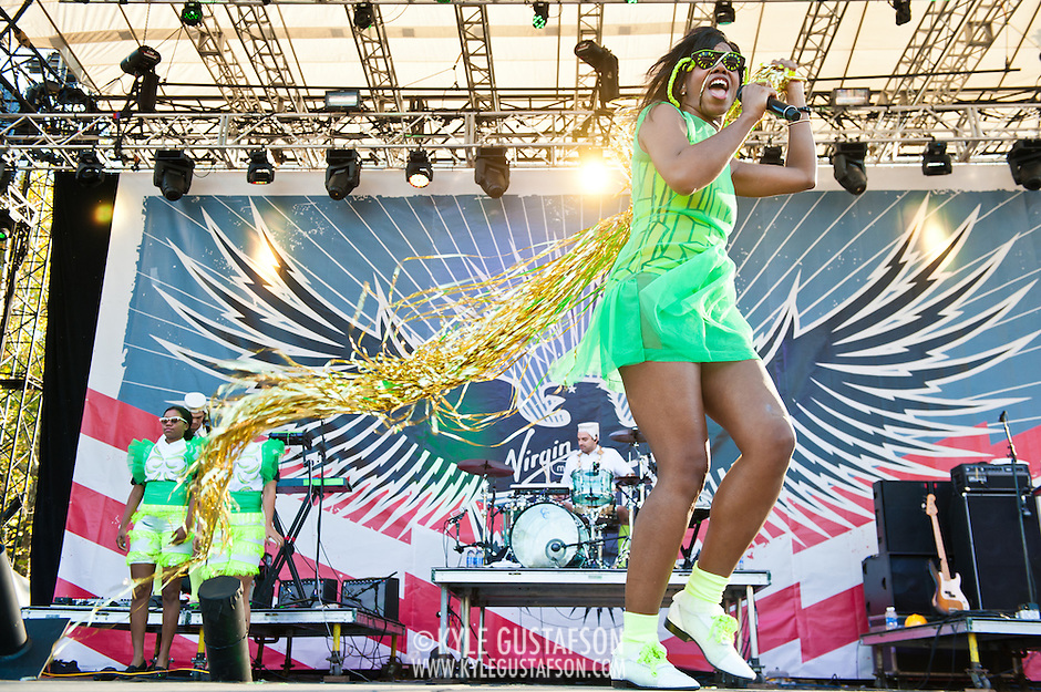 COLUMBIA, MD - October 6th, 2012 - Santigold performs at the 2012 Virgin Mobile FreeFest in Columbia, MD. She released her sophomore album, Master of My Make-Believe, in April. (Photo by Kyle Gustafson / For The Washington Post) (Kyle Gustafson/For The Washington Post)