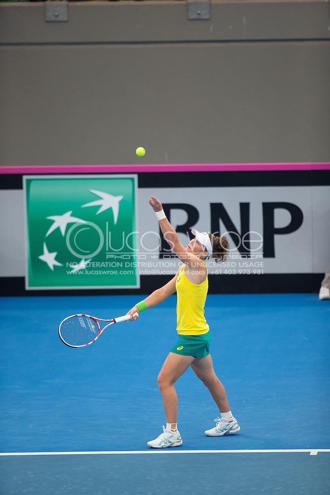 Samantha Stosur (AUS), April 19, 2014 - TENNIS : Fed Cup, Semi-Final, Australia v Germany. Pat Rafter Arena, Brisbane, Queensland, Australia. Credit: Lucas Wroe (Lucas Wroe)