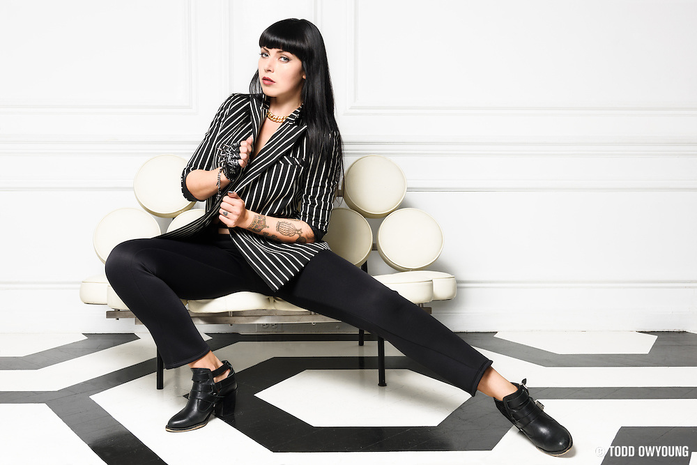 "Behind the scenes photography for the music video ""That Did It"" by Sleigh Bells and featuring Tink, photographed in New York City on September 22, 2014. (Todd Owyoung)"