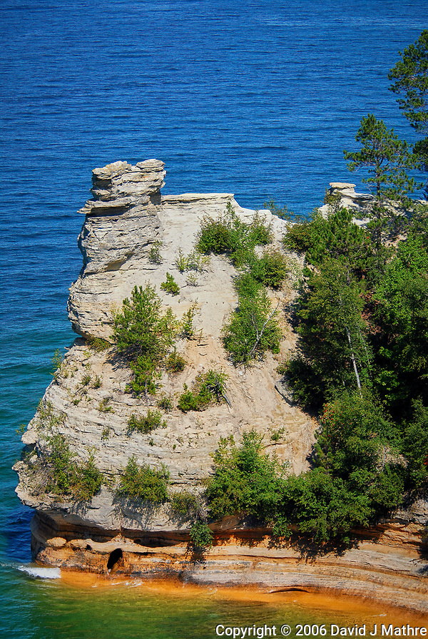 Miners Castle, Pictured Rocks National Lakeshore. Image taken with a Nikon D200 camera and 18-75 mm kit lens. (David J Mathre)