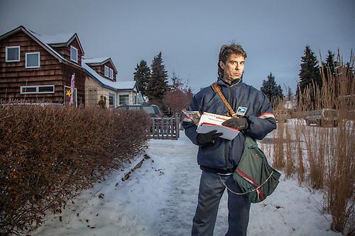 Letter Carrier, Bill Hauek, South Addition, Anchorage  hauekfenderboy@aol.com (© Clark James Mishler)
