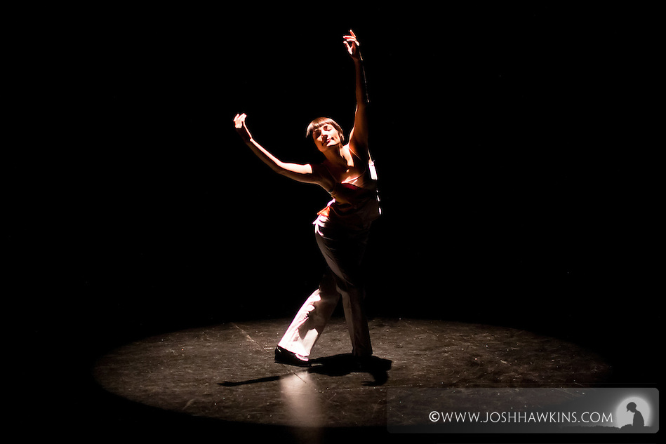 "Chicago Tap Theatre's ""Tidings of Tap"" performed at UIC Theatre in Chicago, IL on Dec 9-11, 2011..Candlelight, choreography by Rich Ashworth, pictured dancer(s): Jennifer Pfaff Yonally (Josh Hawkins)"