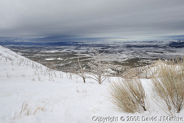 Winter Panorama while driving in Mesa Verde National Park. Image taken with a Nikon D3 and 14-24 f/2.8 lens (ISO 200, 22 mm, f/11, 1/500 sec) (David J Mathre)
