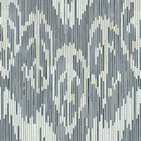 Weft, a jewel glass mosaic shown in Quartz and Pearl, is part of the Ikat Collection by New Ravenna Mosaics. (New Ravenna Mosaics)