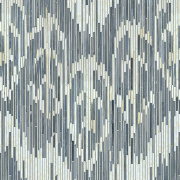 "Name: Weft Style: Contemporary Product Number: NRFGWEFT Description: 24""x 24"" Weft in glass Pearl, Quartz (New Ravenna Mosaics 2010)"