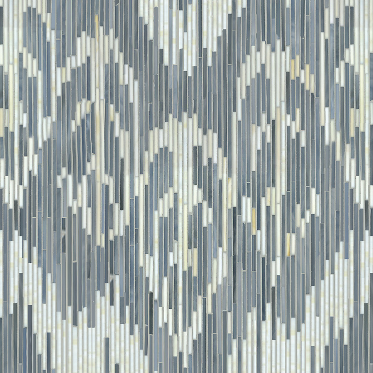 "Name: Weft Style: Contemporary Product Number: NRFGWEFT Description: 24""x 24"" Weft in glass Pearl, Quartz (New Ravenna Mosaics)"