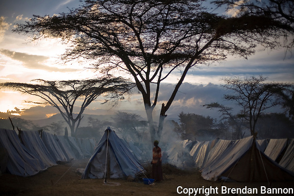 Endebess IDP where  Kenyan's displaced by post election violence sought shelter.. (Brendan Bannon)