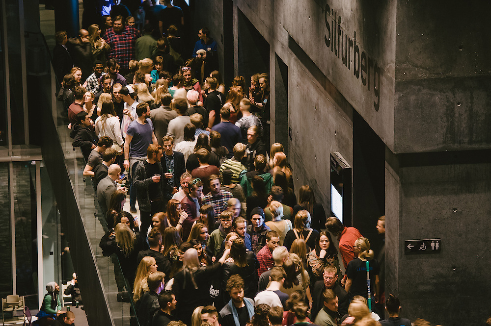 Photos of general atmosphere during Sónar Reykjavík music festival at Harpa concert hall in Reykjavík, Iceland. February 14, 2014. Copyright © 2014 Matthew Eisman. All Rights Reserved (Matthew Eisman/Photo by Matthew Eisman)