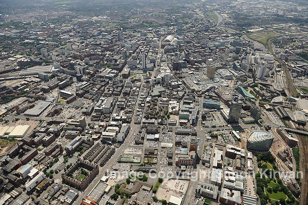 Manchester City Centre from the Air - aerial photo by Simon Kirwan