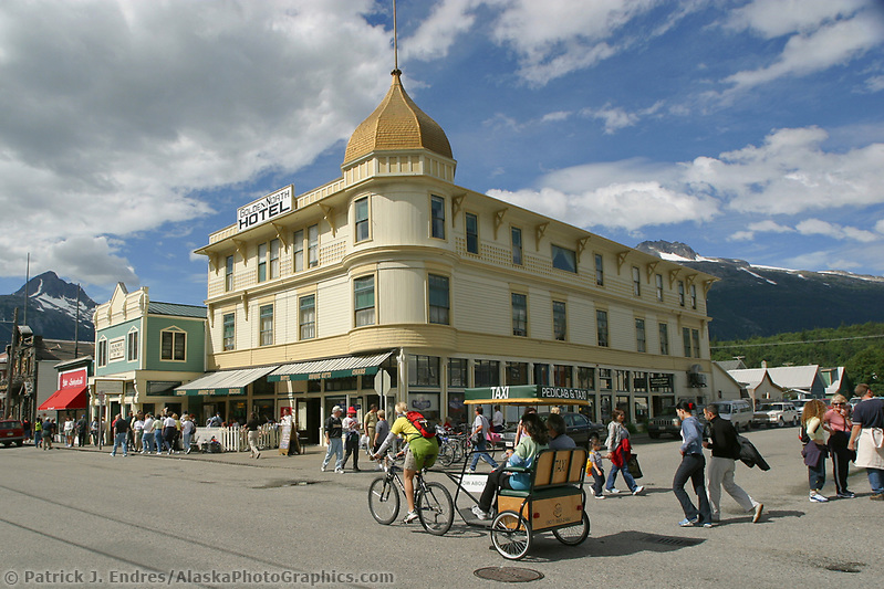 Skagway Alaska, Golden North Hotel, in historic gold rush town of Skagway, Alaska, end of Alaska's inside passage Lynn Canal. (Patrick J. Endres / AlaskaPhotoGraphics.com)