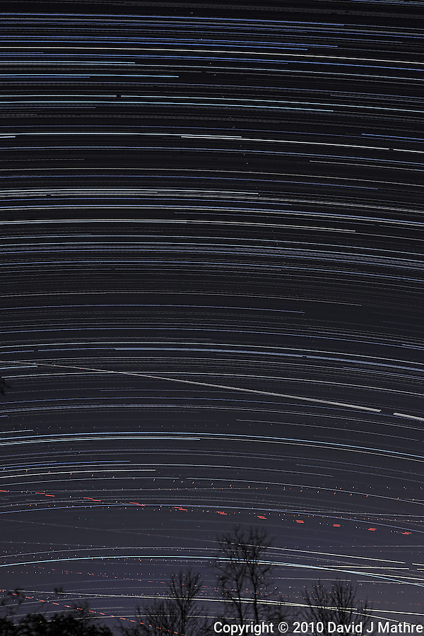 Star Trails over New Jersey (David J Mathre)