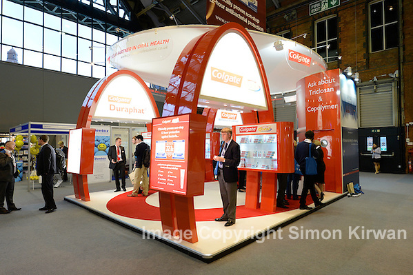 Colgate stand, British Dental Conference & Exhibition 2012, MCCC. Photo by Simon Kirwan