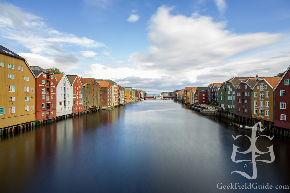 The waterfront along the river Nid, in Trondheim, Norway. (Warren Schultz)