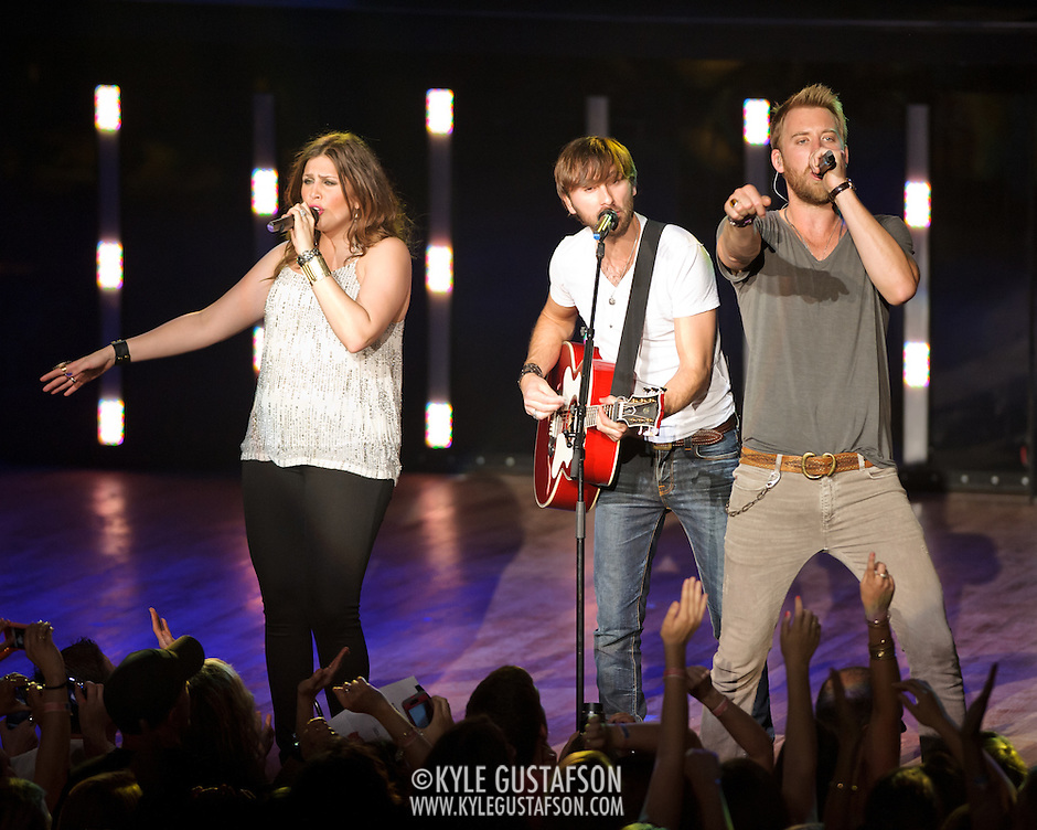 COLUMBIA, MD -  May 20th, 2012 - Grammy Award-winning group Lady Antebellum perform to a packed house at Merriweather Post Pavilion in COlumbia, MD.  The group's last album, We Own The Night, reached #1 on the US Billboard 200. (Photo by Kyle Gustafson/For The Washington Post) (Kyle Gustafson/For The Washington Post)