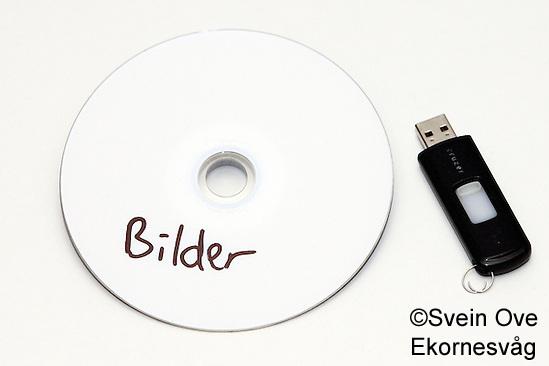 Bilde av en cd og en minnepenn. Foto: Svein Ove Ekornesvåg (Svein Ove Ekornesvåg)