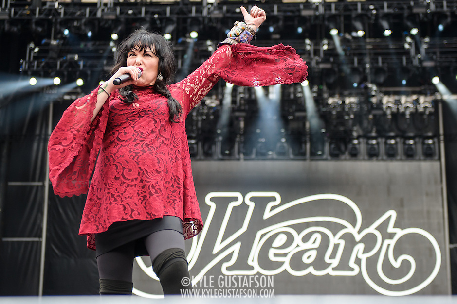 WASHINGTON, DC - July 4, 2015 - Ann Wilson of Heart performs  at the Foo Fighters 20th Anniversary Blowout at RFK Stadium in Washington, D.C. (Photo by Kyle Gustafson / For The Washington Post) (Kyle Gustafson/For The Washington Post)