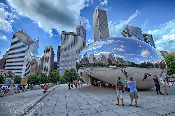 The Bean is a tourist attraction in Millennium Park in the beautiful city of Chicago. (Ian C Whitworth)