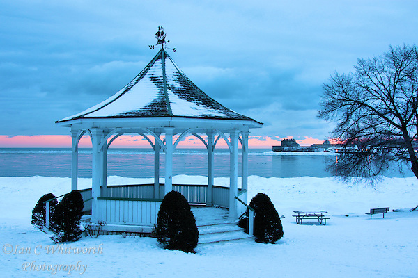 Winter dawn view of the gazebo at Niagara on the Lake (Ian C Whitworth)