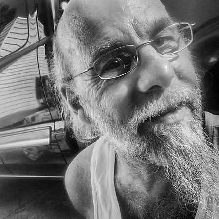 Blues musician, Gary Sloan, Anchorage (Clark James Mishler)