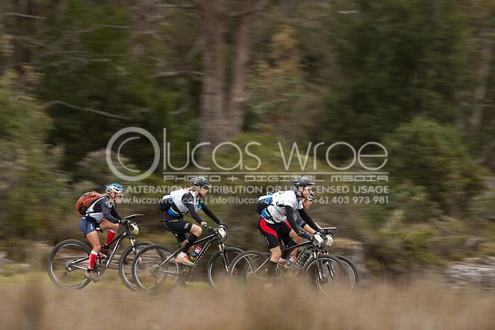 Team Lonely Planet (Georgina Leslie and David Gorvett). Adventure Racing. Swisse Mark Webber Challenge 2013. Tasmania, Australia. 28/11/2013. Photo By Lucas Wroe (Lucas Wroe)